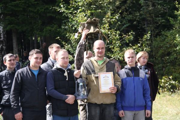Победители первого туристического слета команда СПСЧ-3 Лесная братва