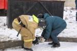 Подготовка к установке пожарного автомобиля на водоем