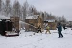 Сбивание мишеней из ручного пожарного ствола
