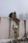 Спасение пострадавшего с крыши гаража