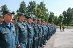 Торжественное постоение сотрудников Специального управления ФПС №5 МЧС России