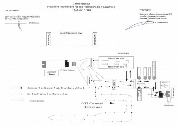 Схема перекрытия Дуатлон 2017