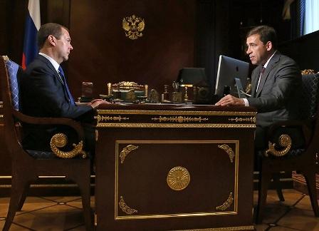 Дмитрий Медведев и Евгений Куйвашев